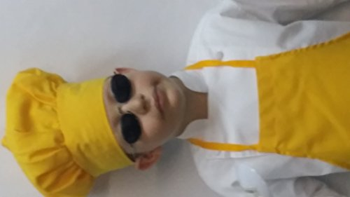 [CHEFSKIN KIDS YELLOW MUSHROOM CHEF HAT, ADJUSTABLE VELCRO] (Used Fancy Dress Costumes Ebay)