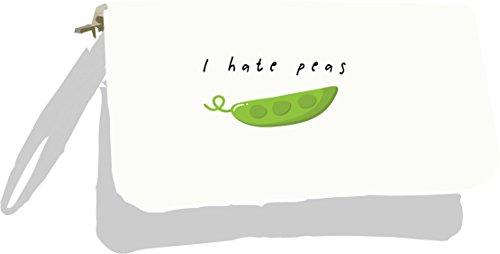 Vegetable Jokes Clutch Hate Peas Pun I Metallic Silver Fruit and Silver Bag Z4fCqw