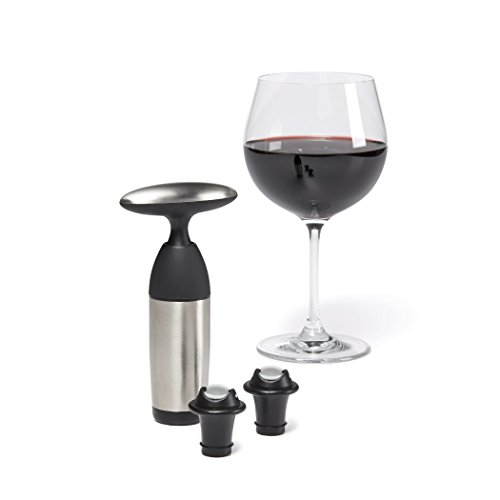 OXO SteeL Vacuum Wine Saver and Preserver with Two Stoppers by OXO (Image #7)