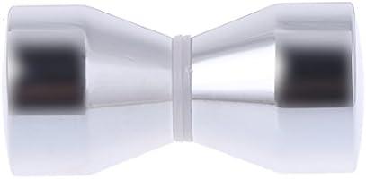 manyo 1 pieza baño puerta asas, aleación de aluminio, 6 cm de altura, Plata, ideal para puerta de baño, puerta corredera, cocina armario, armario.: Amazon.es: Bricolaje y herramientas