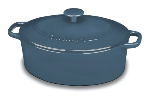 Cuisinart CI755-30BG Chef's Classic Enameled Cast Iron 5-1/2-Quart Oval Covered Casserole, Provencal (Oval Oven Safe Casserole)