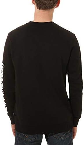 Vans Herren Distorted Performance Sweatshirt Schwarz VN0A456DBLK