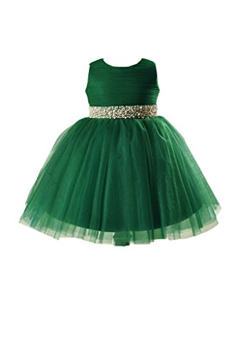 313hpmOenBL buy the best video games- Vienna Bride Lovely Baby Girls' Tulle Flower Girl Dress for Wedding Pageant-child 2-Dark Green