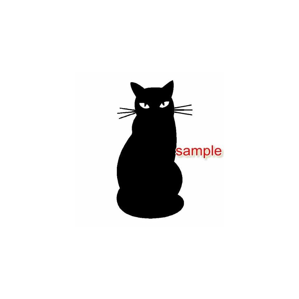 CAT SHADOW WHITE VINYL DECAL STICKER
