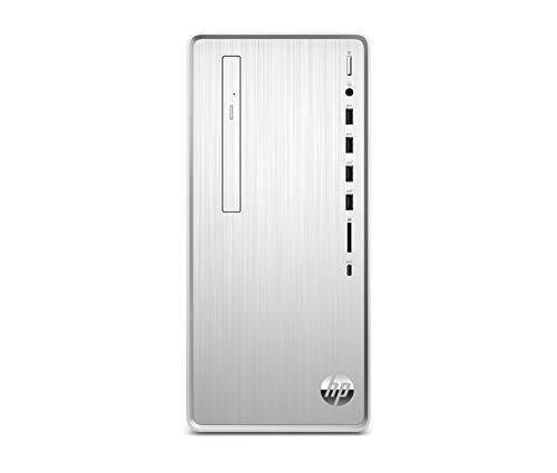 HP Pavilion Desktop Computer, Intel Core i7-9700, 16GB RAM, 1TB Hard Drive, 256 GB SSD, Windows 10 64 (TP01-0070, Silver)
