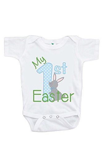 Custom Party Shop Unisex Baby's Novelty My First Easter Onepiece 0-3 Months Blue and Green