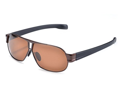 Heartisan Men's Classic Rectangular Polarized Anti-UV Sunglasses - Erika Cam