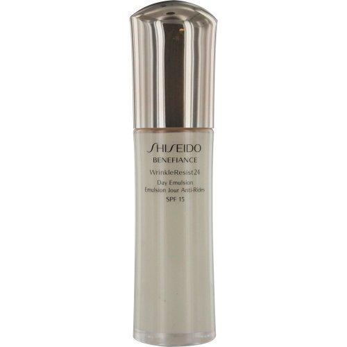 - Shiseido/Benefiance Spf 18 Wrinkle Resist 24 Day Emulsion 2.5 Oz (75 Ml)