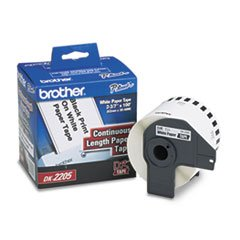 Brother Continuous Paper Tape (Brother Continuous Paper Label Tape, 2.4 inch x 100ft Roll, White)