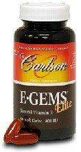 Carlson E Gems Elite 400 IU, Natural Vitamin E