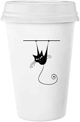 Climb Ferroviario gato negro Halloween Animal Art Silueta Classic ...