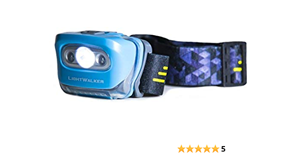 Lightweight and Bright LED Light Camping Running LIGHTWALKER Emergency Headlamp 180 Lumens Flashlight with White and Red Modes for Power Outages Adults Kids