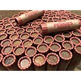 50 Wheat Pennies (Unsearched Shotgun Roll) - Mixed Years Circulated Good or Better.