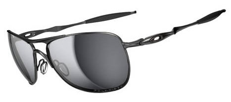 Oakley Mens Crosshair Sunglasses (OO4060) Silver/Black Metal - Polarized - 61mm