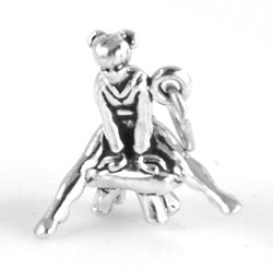 Sterling Silver Vaulting Gymnast with Split Ring - Item #3827