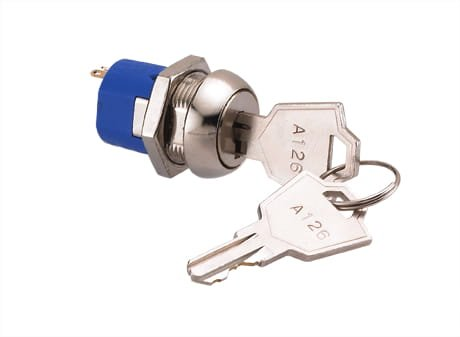 Keyed Cam Lock Electricity Powered, 34.5mm Comes with Two Keys, Great for Slot Machines, Arcade Machines, Electronics by Bliss Brands