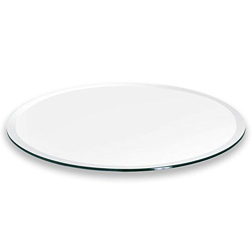 Better Bevel 20″ Round 1/4″ Thick Glass Table Top | 1″ Beveled Edge
