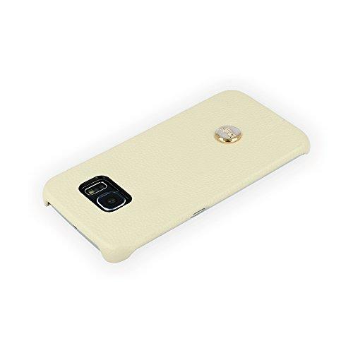 QIOTTI QX-C-0200-03-SGS6E Snapcase Q.Snap Luxury Premium Echtleder für Samsung Galaxy S6 Edge creme