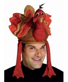 Deluxe Plush Turkey Costumes (Plush Deluxe Turkey Gobbler Hat)
