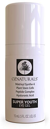 OZNaturals Anti Aging Eye Gel: Super Youth Eye Gel for Men and Women - Under Eye Treatment for Bags, Wrinkles, Crows Feet, Dark Circles, and Puffiness - Day and Night Anti Wrinkle Eye Gel - 0.5 Fl Oz