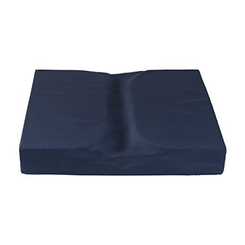 DMI Dual Cut Foam Coccyx Seat Cushion, 16 x 18 x 3 inches, Navy