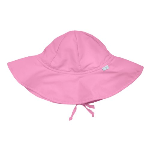 I play. Baby Brim Sun Protection Hat, Light Pink, 0-6 Months