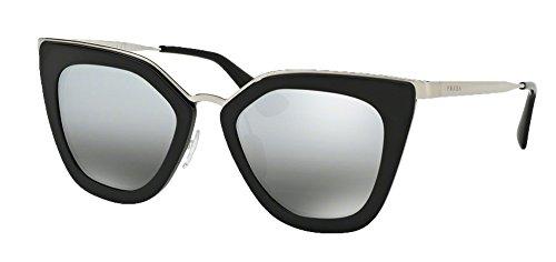 Prada PR53SS Sunglasses (Shiny Black Frame Silver Mirror - Pr53ss