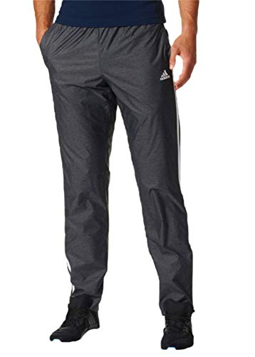 (adidas Men's Essential 3-Stripe Woven Pants XL Black)