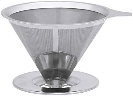 Filtro V60, filtros V60 reutilizables de acero inoxidable con ...