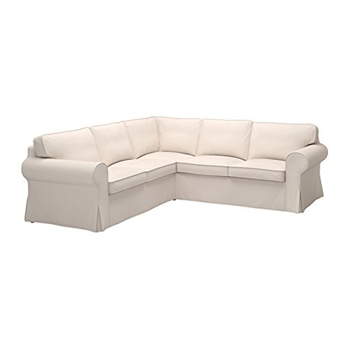 IKEA Ektorp Sectional Slipcover Cover, 4 Seat Corner, Lofallet Beige, 403.216.88 (Sectional Sofa Slipcovers)