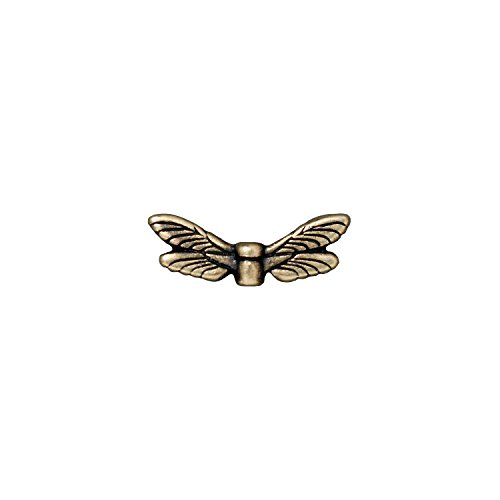 - TierraCast Dragonfly Wings, 7x20mm, Antique Brass Oxide Finish Pewter, 4-Pack