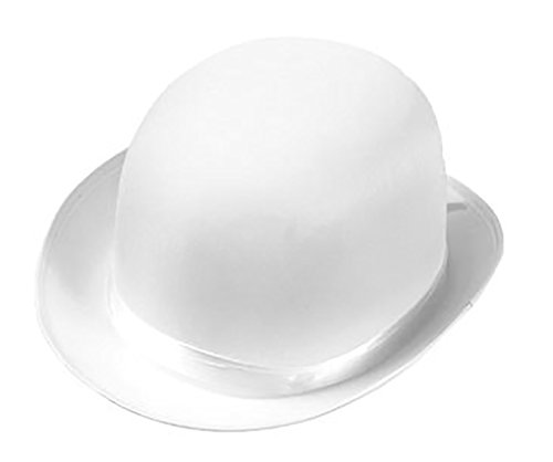 Deluxe Derby Adult Hat (Steampunk Deluxe Satin Derby Hat - White)