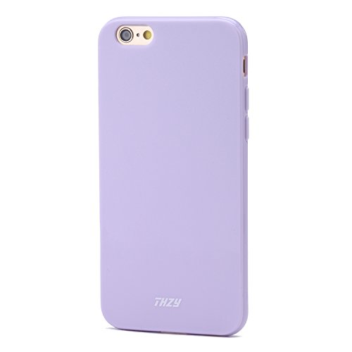 iPhone 6/6s Case - THZY Protective Case Bumper Soft TPU Back Cover for iPhone 6/6s 4.7 inches (Fragrant Lavender,Shock Absorbent,Ultra Thin ,Light Weight,Scratch-Resistant,Perfect Fit) Lavender Purple Iphone