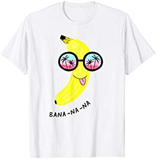 Funny Banana In Sunglasses With Seaside Reflection T-shirt | Size S - 5XL