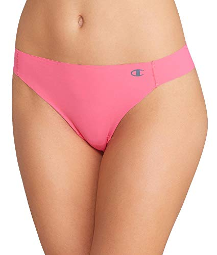Champion Women's Absolute Thong, Melon Punch Pink, X-Large