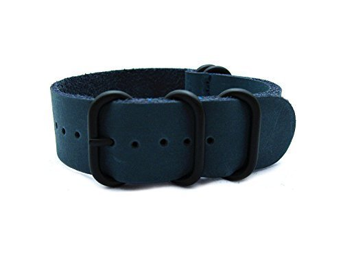 HNS-ZULUPATH-24mm-Handmade-Antique-Vintage-Blue-Calf-Leather-Watch-Strap-5-PVD-Coated-Ring-ZUL036