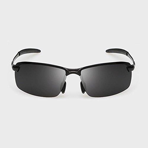 Protección Protección De Sol Gafas Green Conducción UV WYYY black Solar Libre Black Hombres Luz De Gafas Polarizada 100 Retro Aire Clásico Borde Black Gafas Sin UVA Color Anti Raqxw