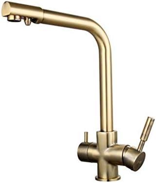 黒のキッチンシンクの蛇口ミキサー7文字デザイン360度回転水浄化タップデュアルハンドル