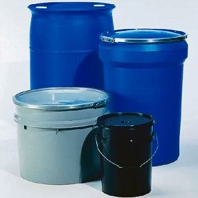 Youngstown Barrel & Drum Plastic Containers, Drum; Black; OH; Large skirt cover with gasket; DOT/UN Marking: 1H2/Y32/S and Y1.5/30; 15 gal. (57L) (Plastic Drum Containers)