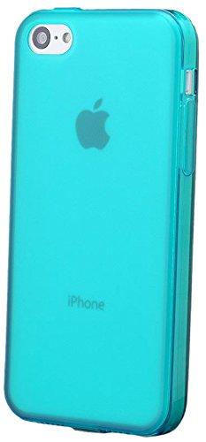 Apple iPhone 5C | iCues TPU Matt Case avec bouchon Turquoise | [Protecteur d'écran, y compris] protecteur de feuille transparente Temps clair de gel de silicone Housse étui de protection couverture Co