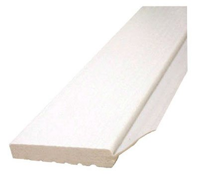Inteplast Building Products 236007706 Garage Door Weatherstripping, White PVC, 2-In. x 7-Ft. - Quantity 1