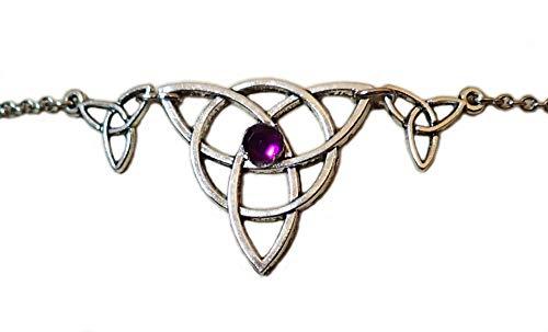 Moon Maiden Jewelry Celtic Triple Triquetra Trinity Headpiece Amethyst Purple ()
