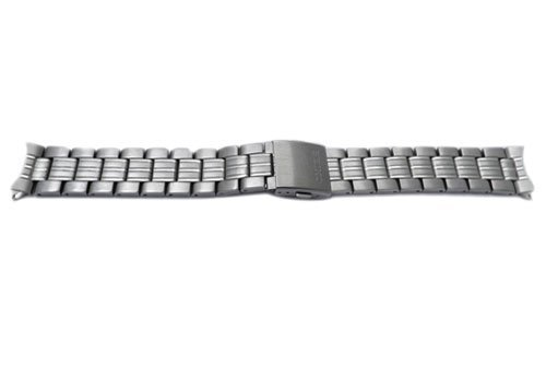 Seiko Stainless Steel Push Button Fold-Over Clasp 20mm Solar Watch (Seiko Steel Bracelet)