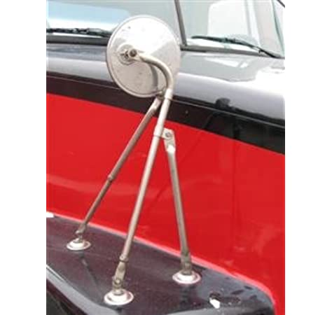 Stainless Steel 8 Hood Mirror with Tri-Pod Bracket Arm
