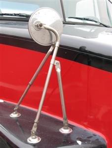 Fender Mount Mirror - Tri-Pod S.S Hood Fender Mount Truck Mirror & Bracket