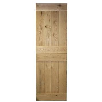 Stabile massiver, rustikaler Eiche interne Tür – Größen wählbar ...