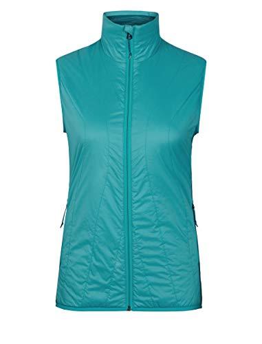 Icebreaker Merino Women's MerinoLOFT Hyperia Lite Hybrid Vest , Arctic Teal/Kingfisher, Small
