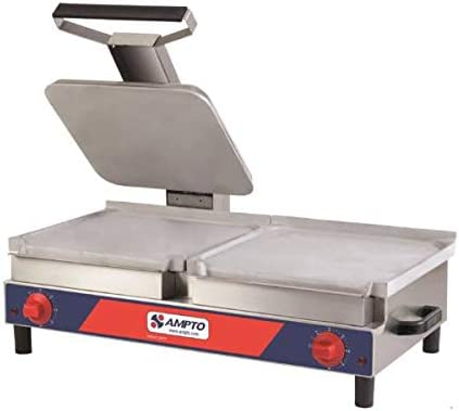 AMPTO SACL Sandwich Grill and Griddle Combination Flat. 120V