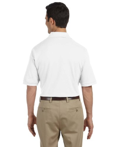 (JERZEES Adult Ring-Spun Cotton Pique Polo , 2X Large, White)