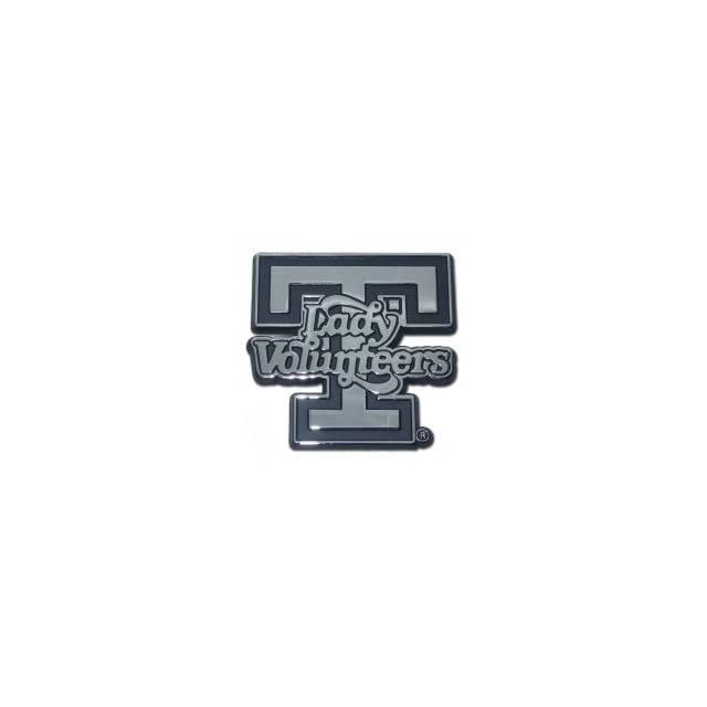 """University of Tennessee """"Lady Volunteers T Logo"""" Premium Chrome Metal Car Truck Motorcycle with NCAA College Emblem Automotive"""